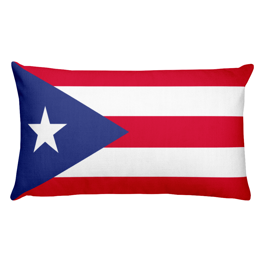 Default Title Puerto Rico Flag Allover Print Rectangular Pillow Home by Design Express