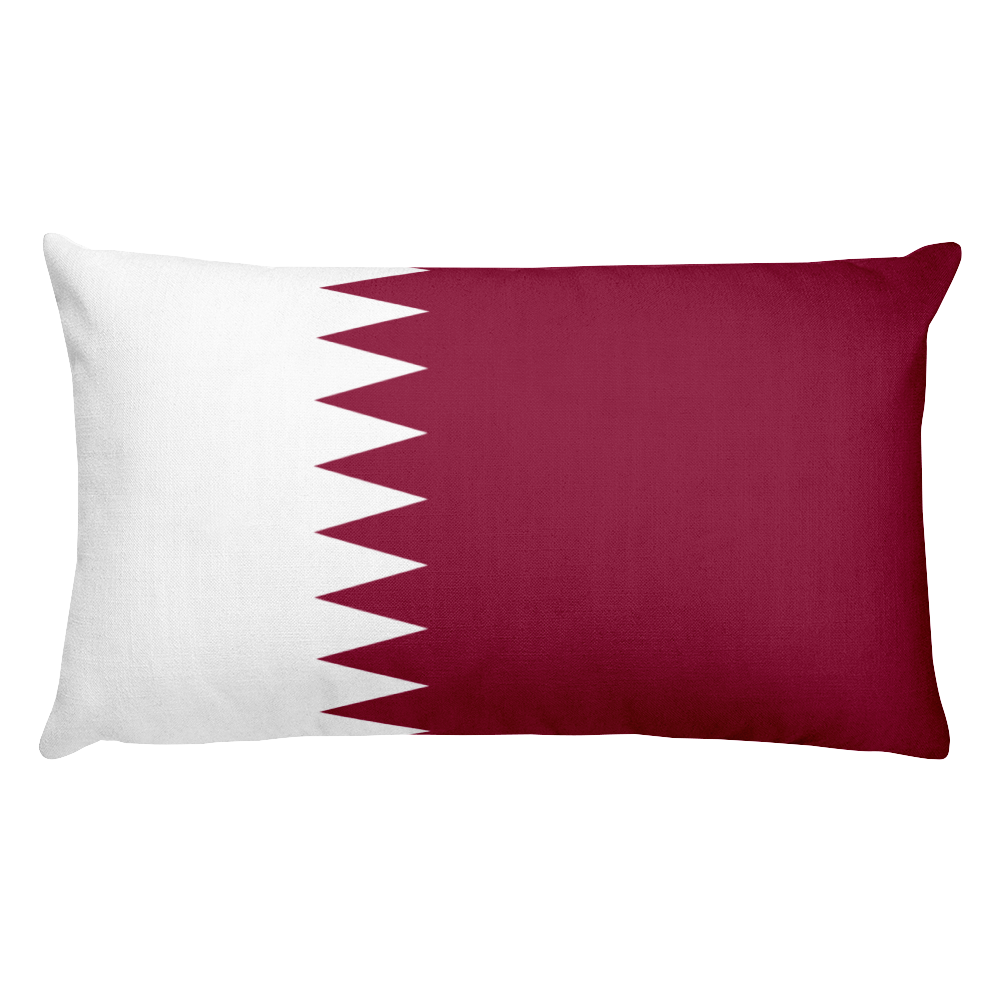 Default Title Qatar Flag Allover Print Rectangular Pillow Home by Design Express