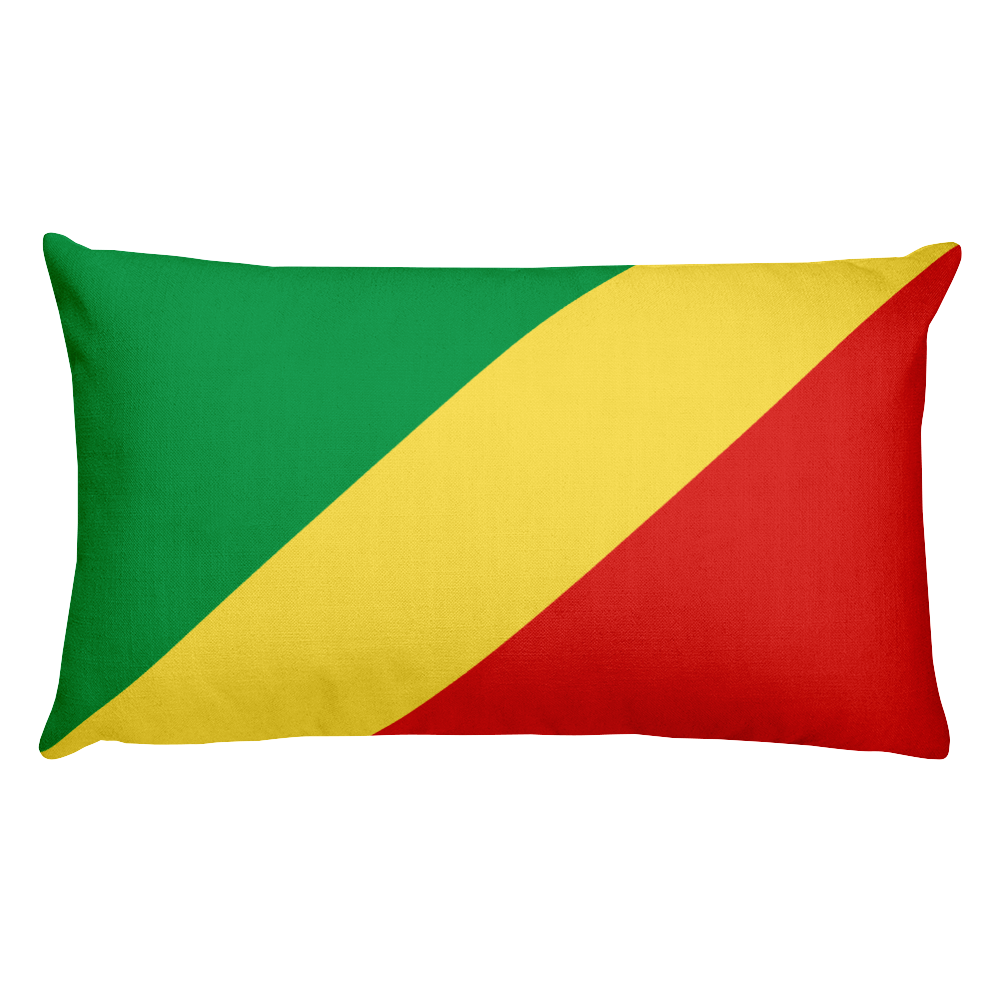 Default Title Republic of Congo Flag Allover Print Rectangular Pillow Home by Design Express