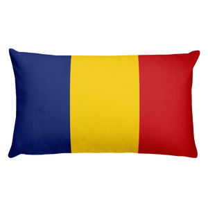 Default Title Romania Flag Allover Print Rectangular Pillow Home by Design Express