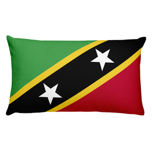Default Title Saint Kitts and Nevis Flag Allover Print Rectangular Pillow Home by Design Express