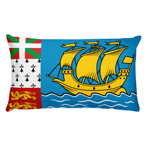 Default Title Saint Pierre and Miquelon Flag Allover Print Rectangular Pillow Home by Design Express
