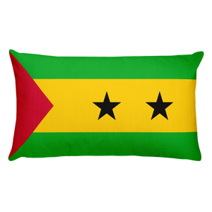 Default Title Sao Tome and Principe Flag Allover Print Rectangular Pillow Home by Design Express