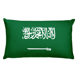 Default Title Saudi Arabia Flag Allover Print Rectangular Pillow Home by Design Express
