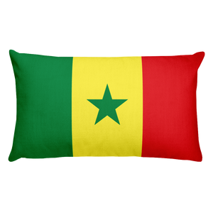 Default Title Senegal Flag Allover Print Rectangular Pillow Home by Design Express