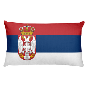 Default Title Serbia Flag Allover Print Rectangular Pillow Home by Design Express