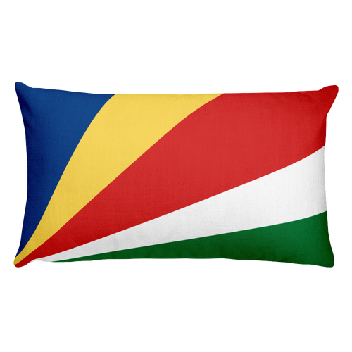 Default Title Seychelles Flag Allover Print Rectangular Pillow Home by Design Express