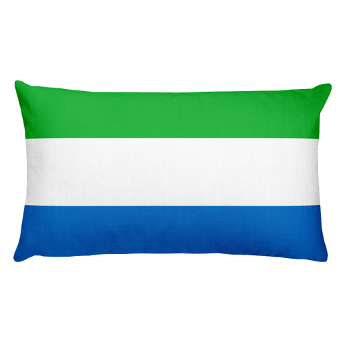 Default Title Sierra Leone Flag Allover Print Rectangular Pillow Home by Design Express