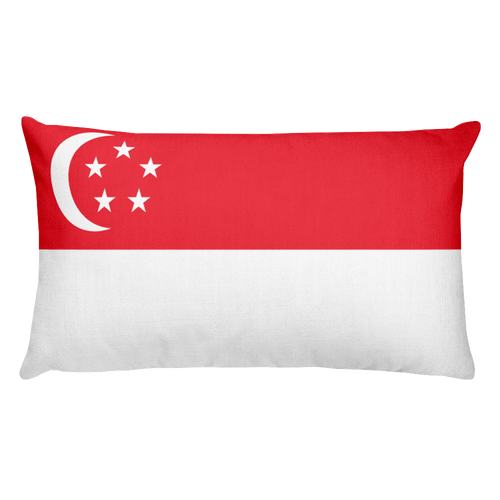 Default Title Singapore Flag Allover Print Rectangular Pillow Home by Design Express