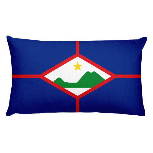 Default Title Sint Eustatius Flag Allover Print Rectangular Pillow Home by Design Express