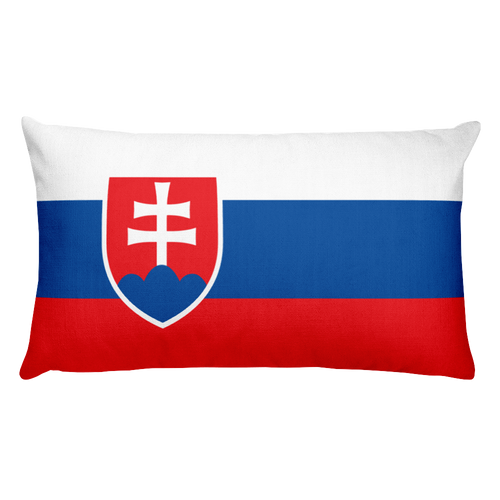 Default Title Slovakia Flag Allover Print Rectangular Pillow Home by Design Express