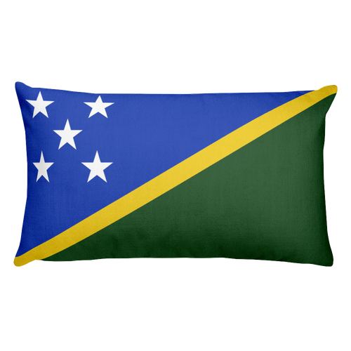 Default Title Solomon Islands Flag Allover Print Rectangular Pillow Home by Design Express