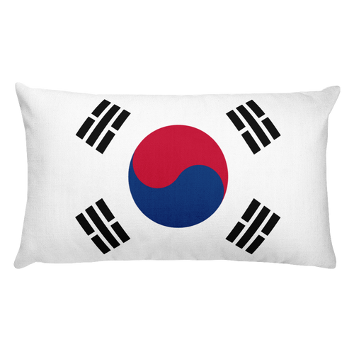 Default Title South Korea Flag Allover Print Rectangular Pillow Home by Design Express