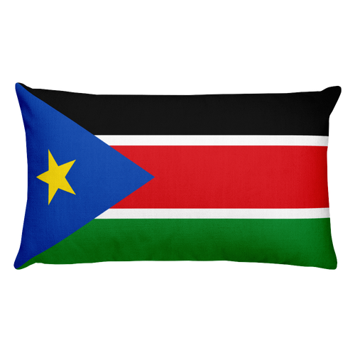 Default Title South Sudan Flag Allover Print Rectangular Pillow Home by Design Express