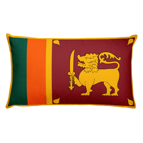 Default Title Sri Lanka Flag Allover Print Rectangular Pillow Home by Design Express