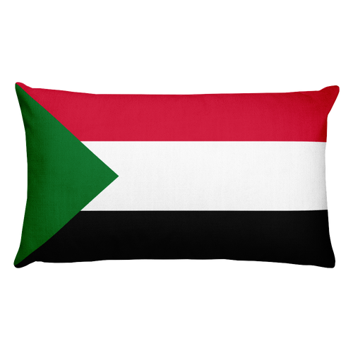 Default Title Sudan Flag Allover Print Rectangular Pillow Home by Design Express