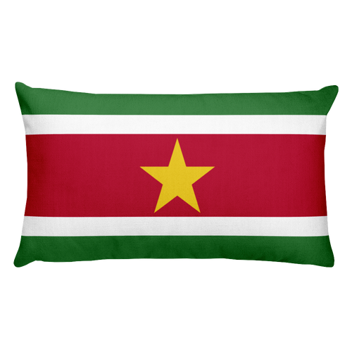 Suriname Flag Allover Print Rectangular Pillow