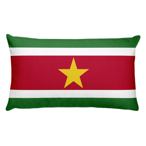 Default Title Suriname Flag Allover Print Rectangular Pillow Home by Design Express