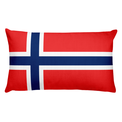 Default Title Svalbard Flag Allover Print Rectangular Pillow Home by Design Express
