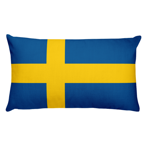 Default Title Sweden Flag Allover Print Rectangular Pillow Home by Design Express