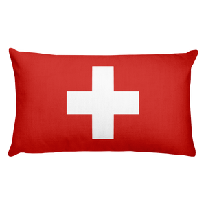 Default Title Switzerland Flag Allover Print Rectangular Pillow Home by Design Express
