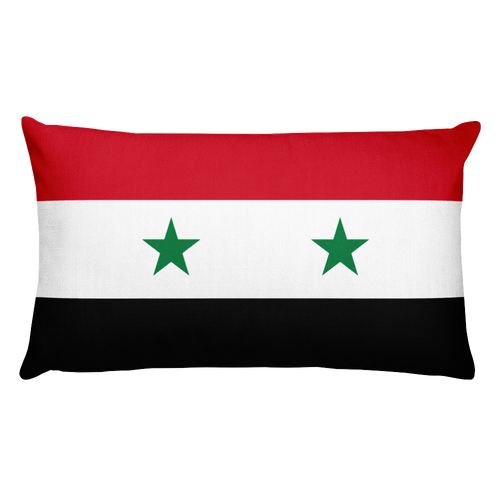 Default Title Syria Flag Allover Print Rectangular Pillow Home by Design Express