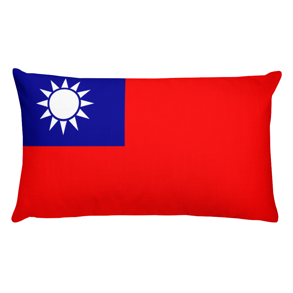 Default Title Taiwan Flag Allover Print Rectangular Pillow Home by Design Express