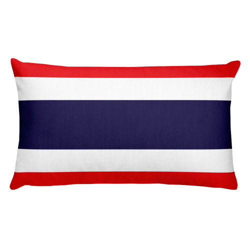 Default Title Thailand Flag Allover Print Rectangular Pillow Home by Design Express