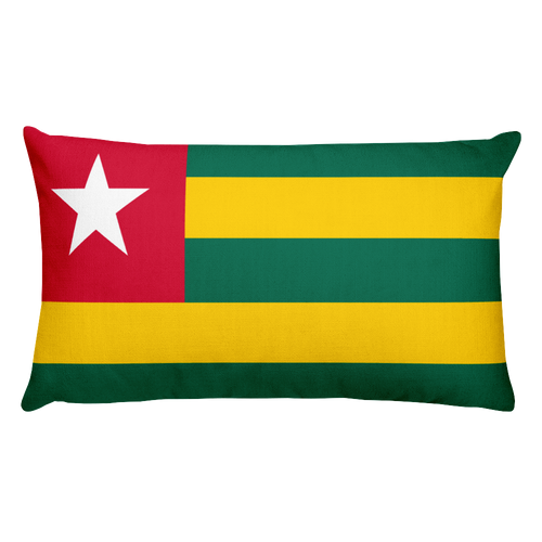 Default Title Togo Flag Allover Print Rectangular Pillow Home by Design Express