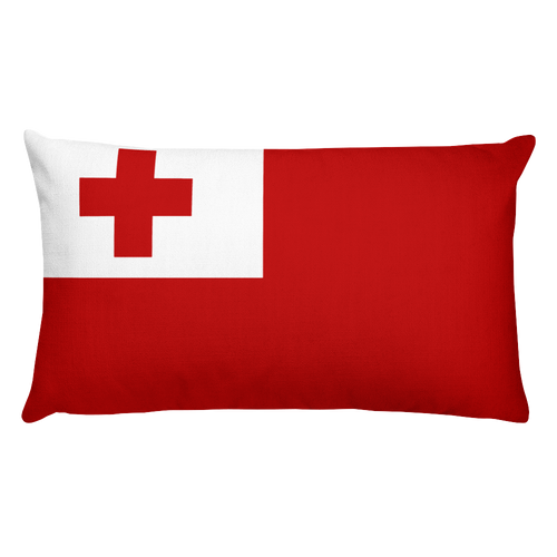 Default Title Tonga Flag Allover Print Rectangular Pillow Home by Design Express