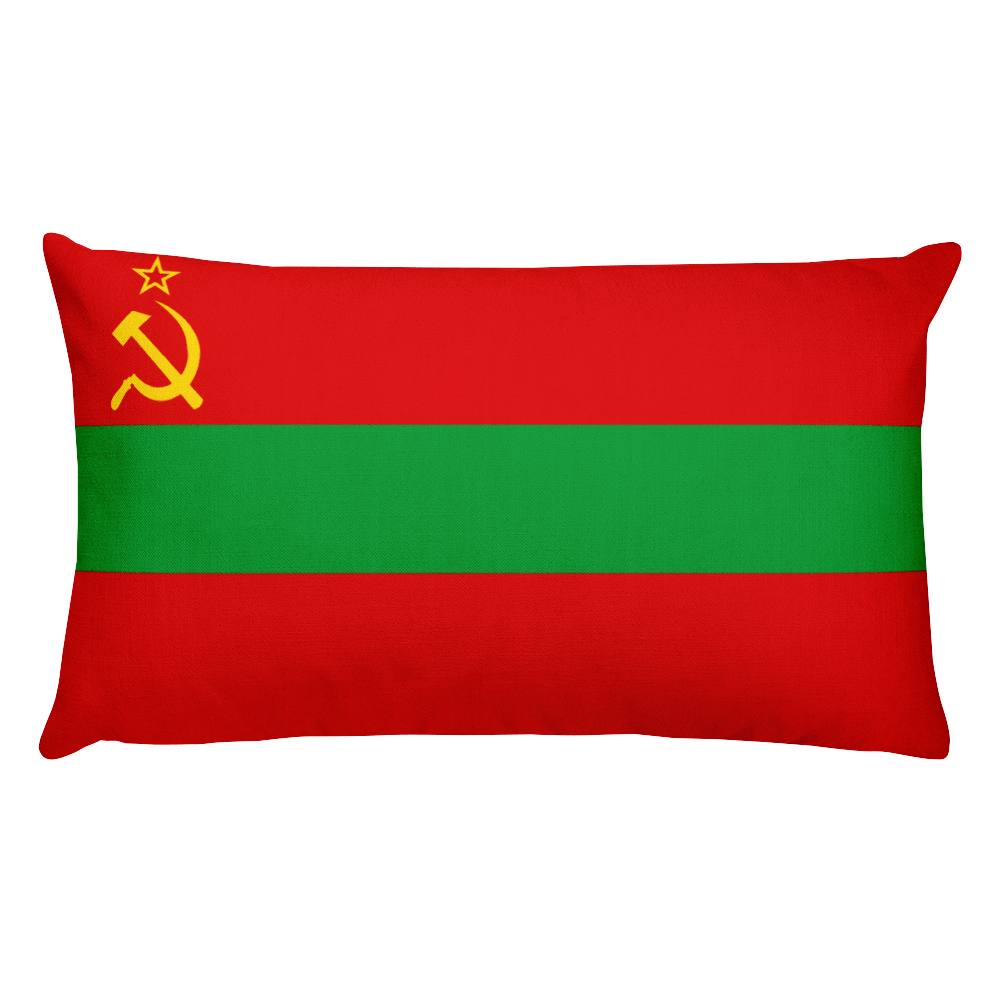 Default Title Transnistria Flag Allover Print Rectangular Pillow Home by Design Express