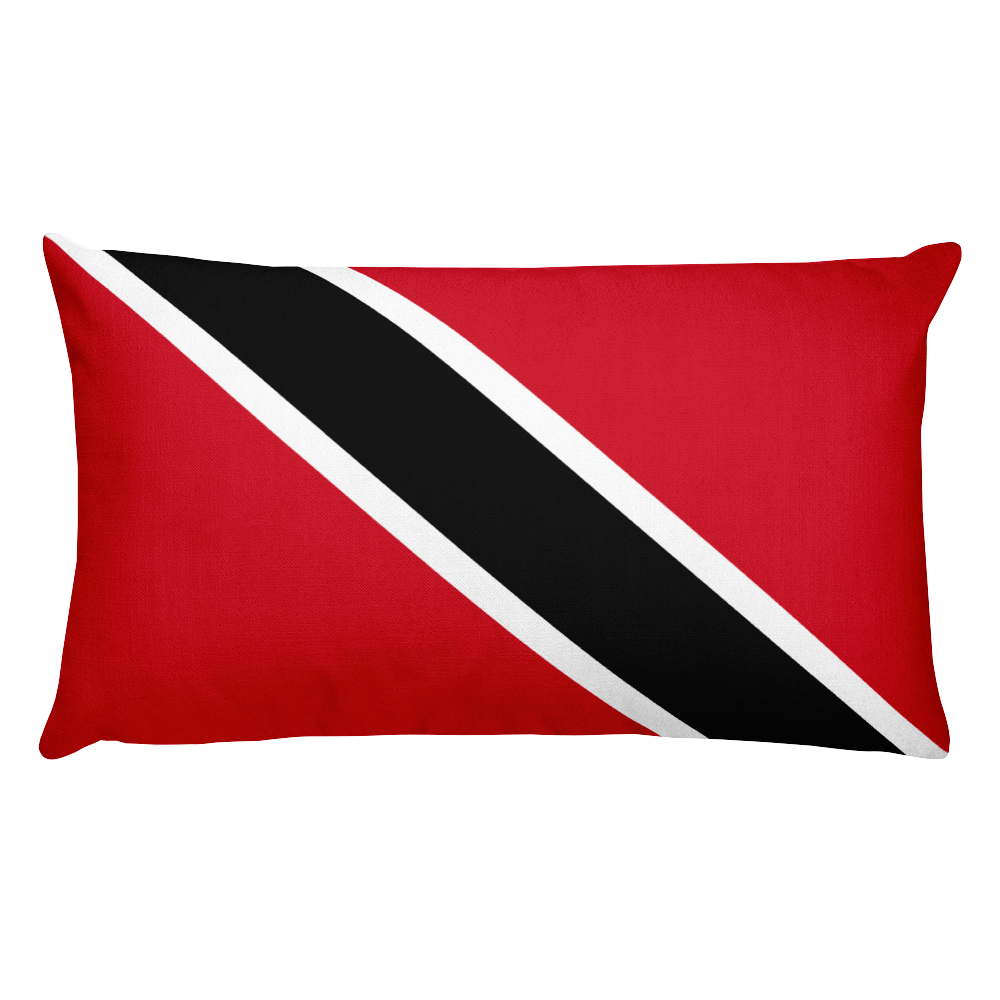 Default Title Trinidad and Tobago Flag Allover Print Rectangular Pillow Home by Design Express