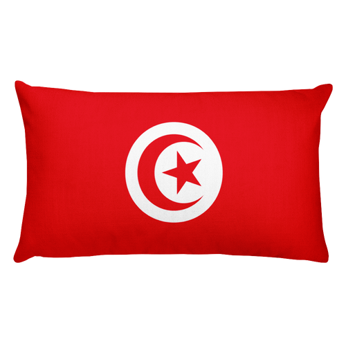 Default Title Tunisia Flag Allover Print Rectangular Pillow Home by Design Express