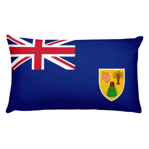 Default Title Turks and Caicos Islands Flag Allover Print Rectangular Pillow Home by Design Express