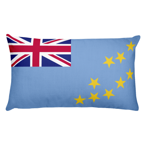 Default Title Tuvalu Flag Allover Print Rectangular Pillow Home by Design Express