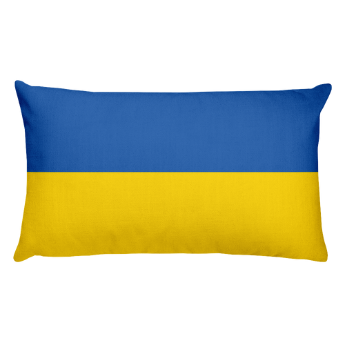 Default Title Ukraine Flag Allover Print Rectangular Pillow Home by Design Express