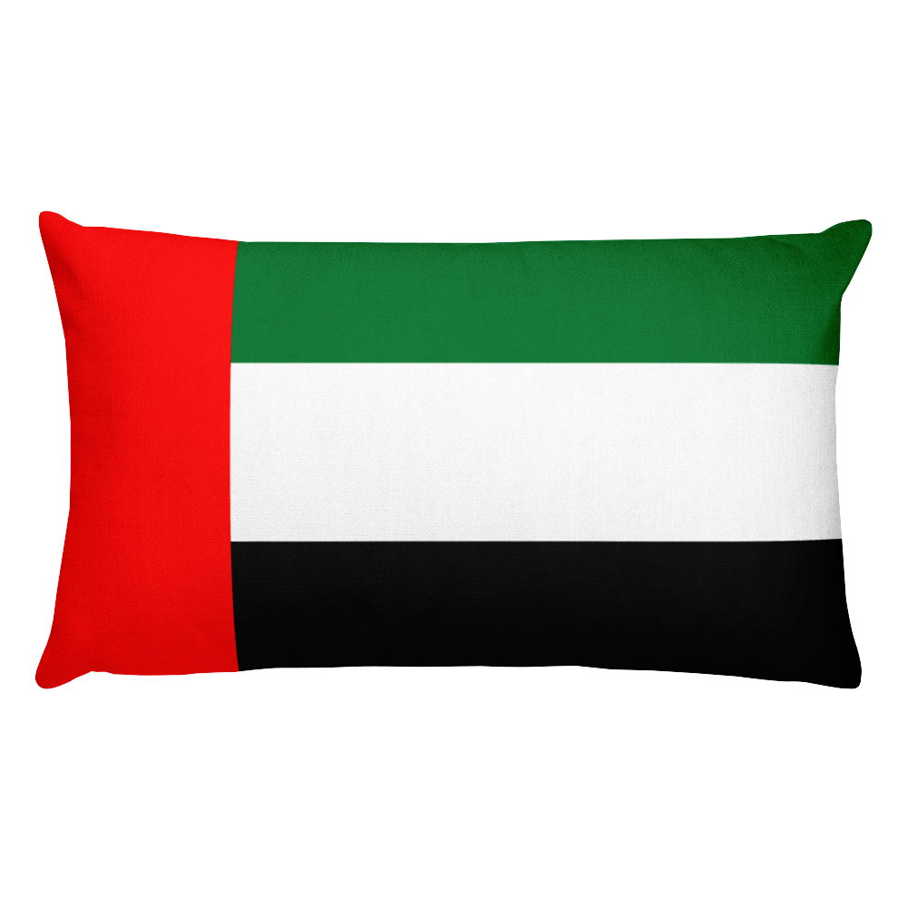 Default Title United Arab Emirates Flag Allover Print Rectangular Pillow Home by Design Express