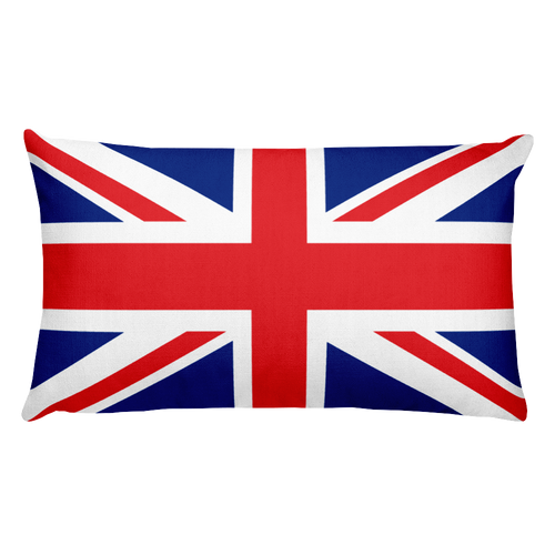 Default Title United Kingdom Flag Allover Print Rectangular Pillow Home by Design Express