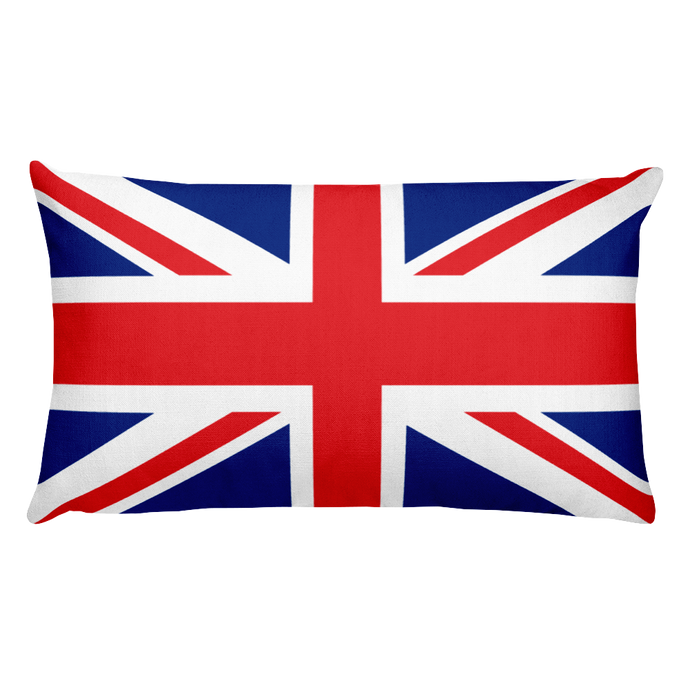 United Kingdom Flag Allover Print Rectangular Pillow