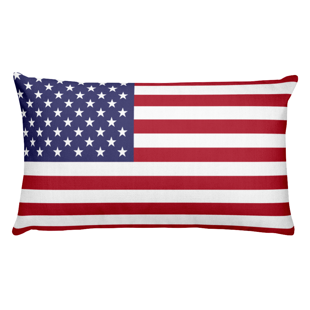 Default Title United States Flag Allover Print Rectangular Pillow Home by Design Express
