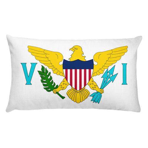 Default Title United States Virgin Islands Flag Allover Print Rectangular Pillow Home by Design Express