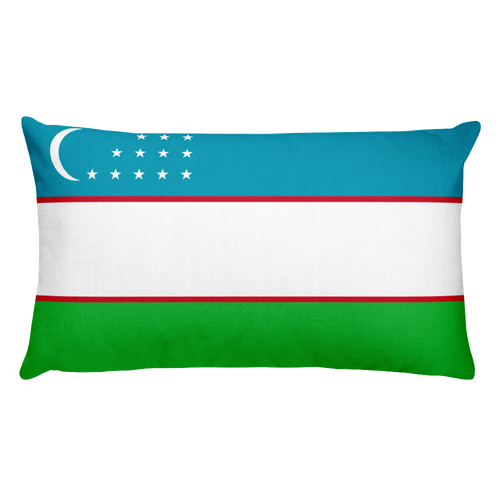Default Title Uzbekistan Flag Allover Print Rectangular Pillow Home by Design Express