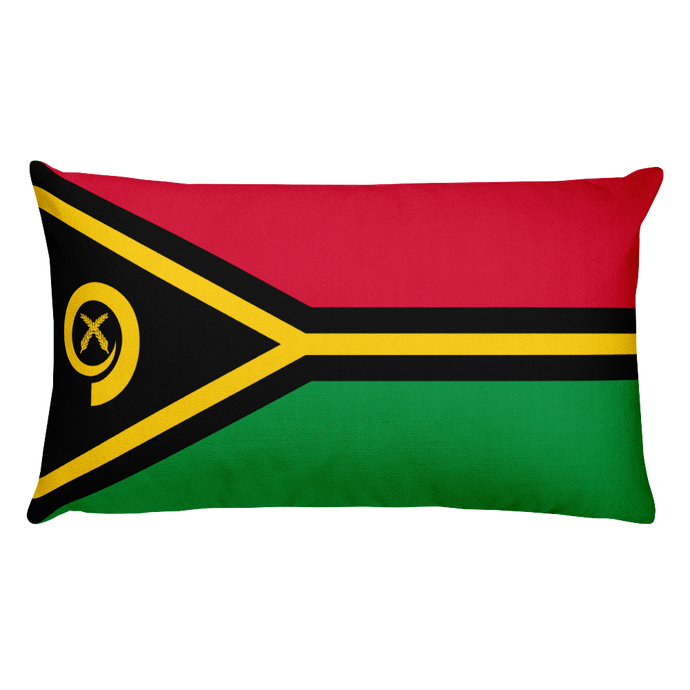Vanuatu Flag Allover Print Rectangular Pillow