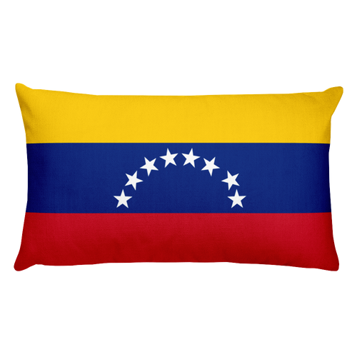 Default Title Venezuela Flag Allover Print Rectangular Pillow Home by Design Express