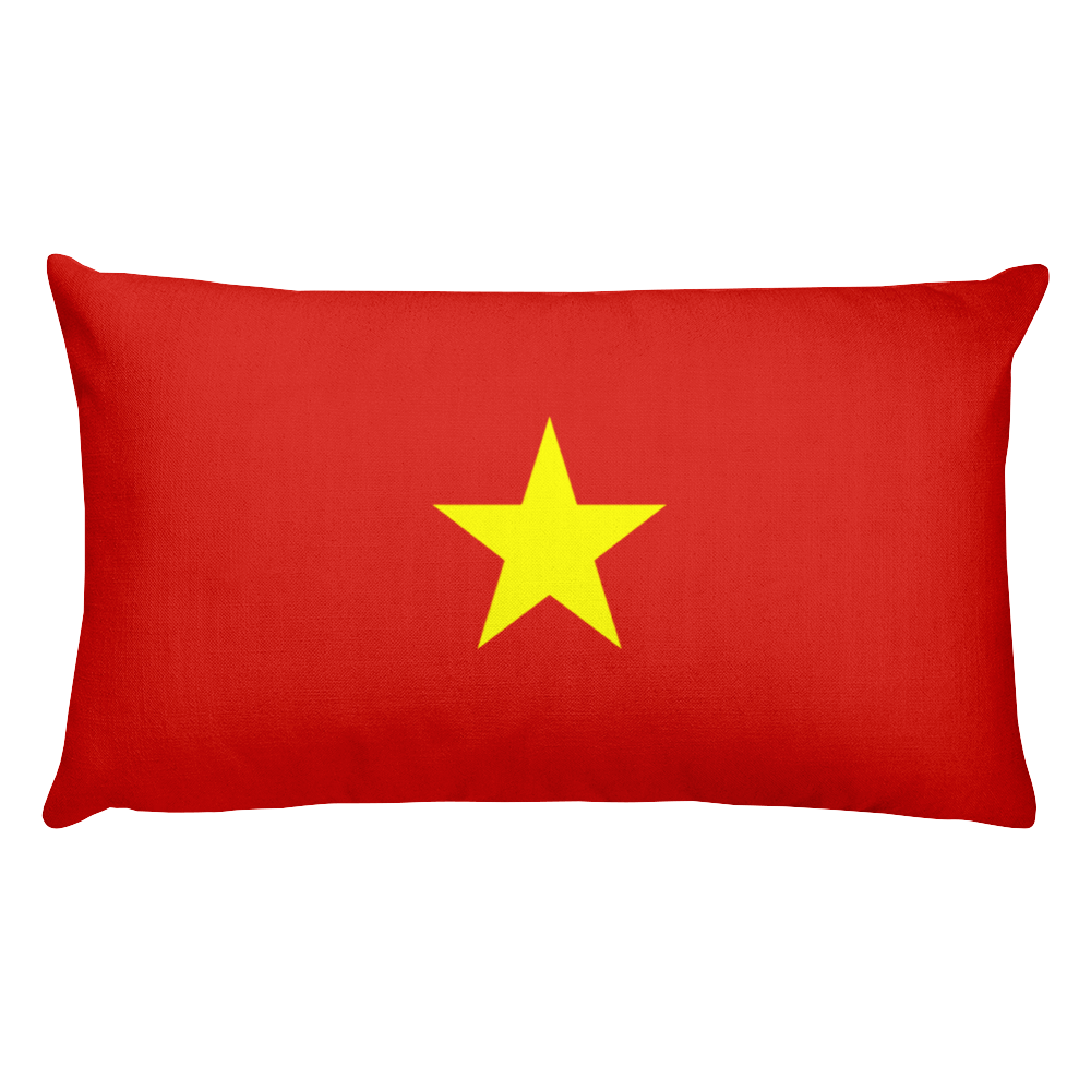 Default Title Vietnam Flag Allover Print Rectangular Pillow Home by Design Express