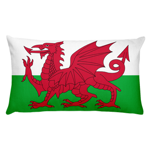 Default Title Wales Flag Allover Print Rectangular Pillow Home by Design Express