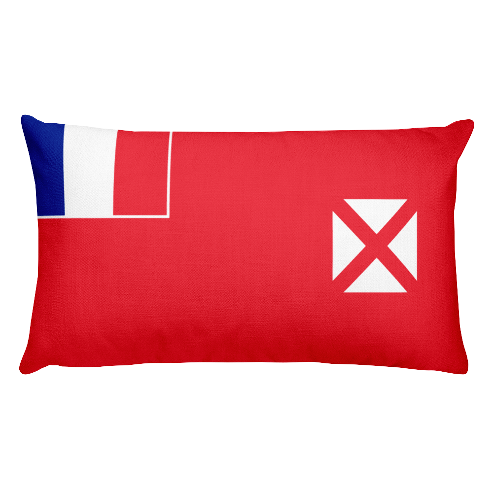 Default Title Wallis and Futuna Flag Allover Print Rectangular Pillow Home by Design Express
