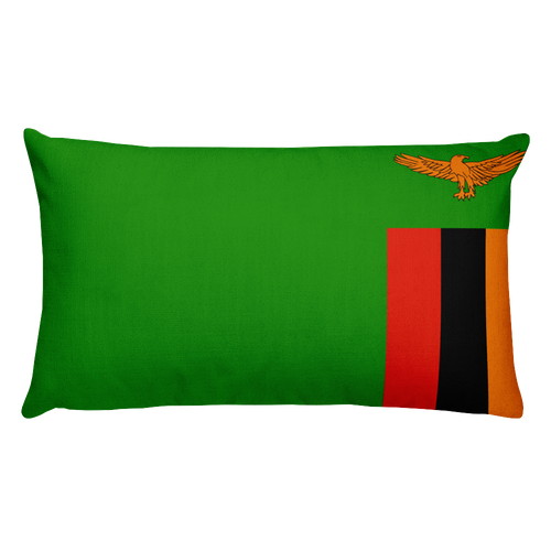 Default Title Zambia Flag Allover Print Rectangular Pillow Home by Design Express