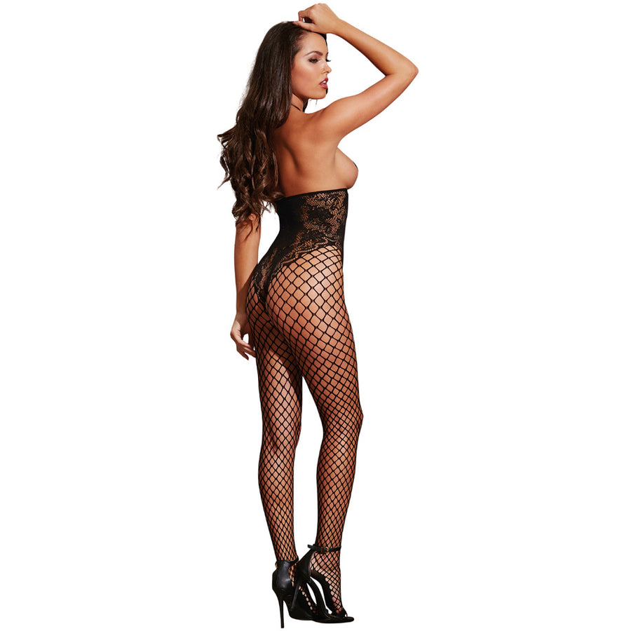 Open-Cup Halter Bodystocking