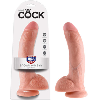 "King Cock 9"" Cock with Balls - Godfather Adult Sex and Pleasure Toys"